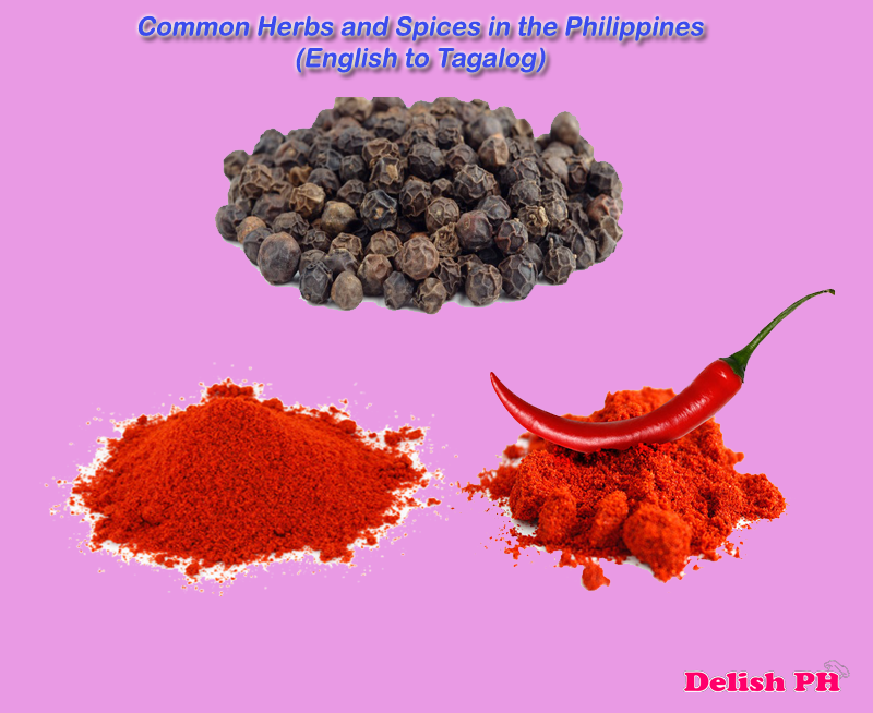 Common Herbs and Spices in the Philippines (English to Tagalog)